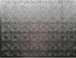 Backsplash Tiles  - Decorative Thermoplastic Tile 18 X 24 Orchid Brushed Nickel
