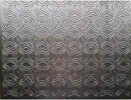 Backsplash Tiles  - Decorative Thermoplastic Tile 18 X 24 Orchid Brushed Nickel