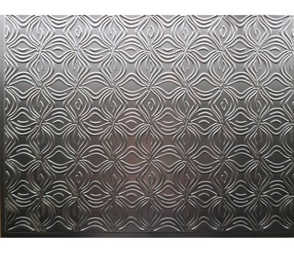 Wall Panels Backsplash Tiles  - Decorative Thermoplastic Tile 18 X 24 Orchid Brushed Nickel