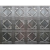 Wall Panels: Backsplash Tiles  - Decorative Thermoplastic Tile 18 X 24 Artnouvo Crosshatch Silver