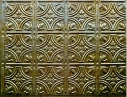 Backsplash Tiles - Decorative Thermoplastic Tile 18 X 24 Empire Bermuda Bronze