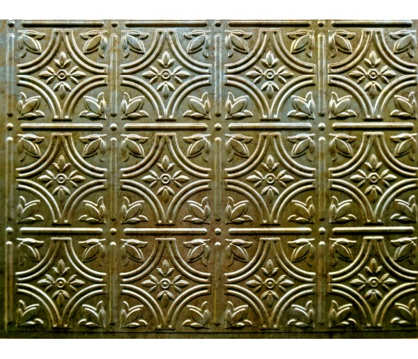 Backsplash Tiles - Decorative Thermoplastic Tile 18 X 24 Empire Bermuda Bronze