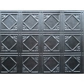 Wall Panels: Backsplash Tiles  - Decorative Thermoplastic Tile 18 X 24 Artnouvo Smoked Pewter
