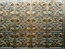 Backsplash Tiles  - Decorative Thermoplastic Tile 18 X 24 Empire Cracked Copper