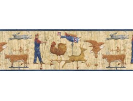 Animals Wallpape Border AFR7111