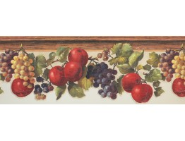 Prepasted Wallpaper Borders - Fruits Wall Paper Border 7133 KH
