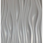 Wall Panel Dunes - Decorative Thermoplastic Tile 24x24 Matte White Paintable