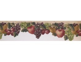 5 1/2 in x 15 ft Prepasted Wallpaper Borders - Fruits Wall Paper Border 72461 JK