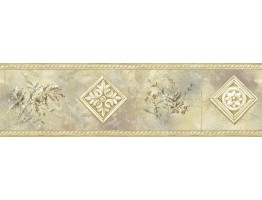 Prepasted Wallpaper Borders - Vintage Wall Paper Border 72857