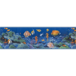 7 in x 15 ft Prepasted Wallpaper Borders - Sea World Wall Paper Border 72886 OA