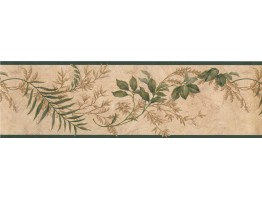Prepasted Wallpaper Borders - Floral Wall Paper Border 73383 KT