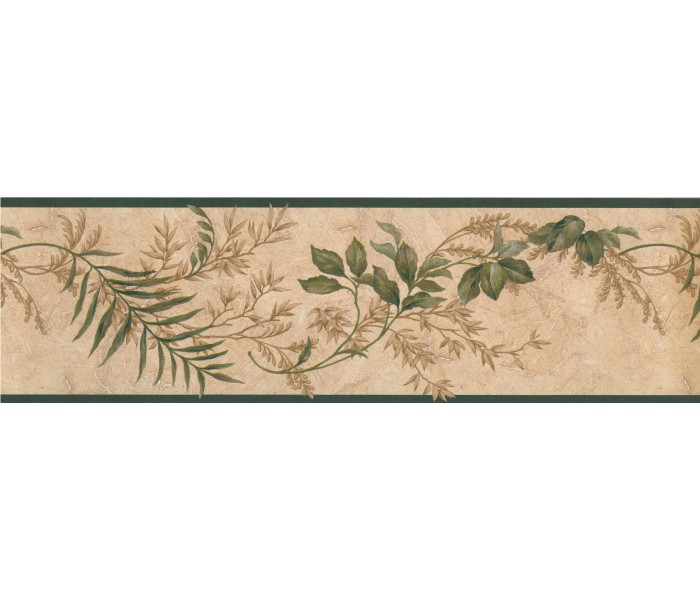 Garden Wallpaper Borders: Floral Wallpaper Border 73383 KT