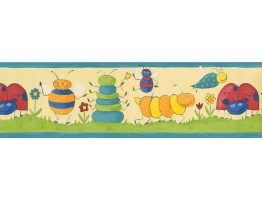 Prepasted Wallpaper Borders - Kids Wall Paper Border 73511 GR
