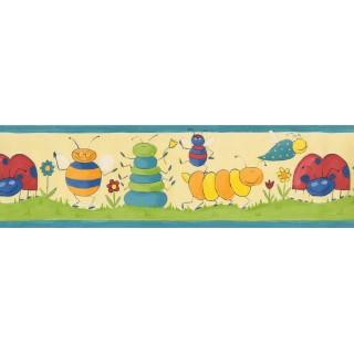 7 in x 15 ft Prepasted Wallpaper Borders - Kids Wall Paper Border 73511 GR