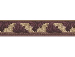 Prepasted Wallpaper Borders - Damask Wall Paper Border 73637 KN