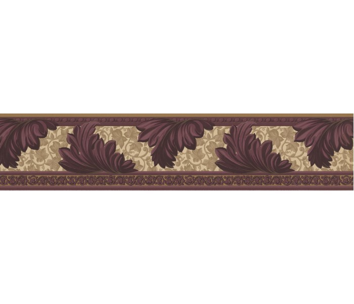 Vintage Wallpaper Borders: Damask Wallpaper Border 73637 KN