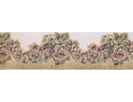 Prepasted Wallpaper Borders - Roses Wall Paper Border 73683 MP