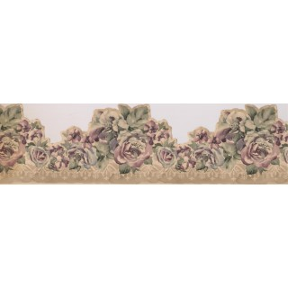 6 1/2 in x 15 ft Prepasted Wallpaper Borders - Roses Wall Paper Border 73683 MP