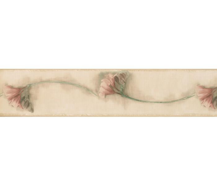 Garden Wallpaper Borders: Floral Wallpaper Border 73977 HT
