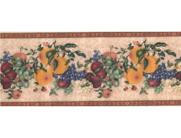 Prepasted Wallpaper Borders - Fruits Wall Paper Border 74295