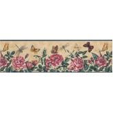 Garden Borders Floral Wallpaper Border 74355 KS York Wallcoverings