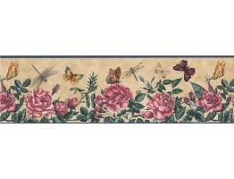 Floral Wallpaper Border 74355 KS