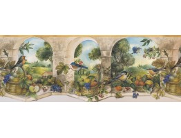 Prepasted Wallpaper Borders - Garden Wall Paper Border 74358 KS DC