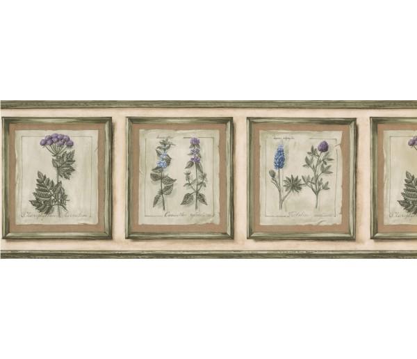Garden Borders Floral Wallpaper Border 74375 KS York Wallcoverings