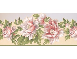 Prepasted Wallpaper Borders - Floral Wall Paper Border 7452 JT