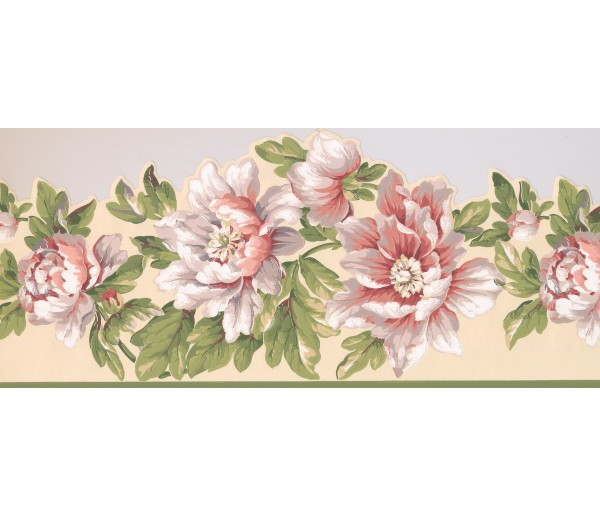 Garden Borders Floral Wallpaper Border 7452 JT York Wallcoverings
