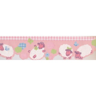 6 in x 15 ft Prepasted Wallpaper Borders - Kids Wall Paper Border 74520 ZW