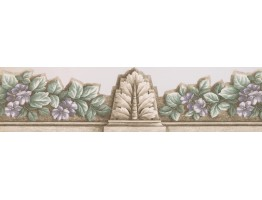 Prepasted Wallpaper Borders - Floral Wall Paper Border 75358 AR DC