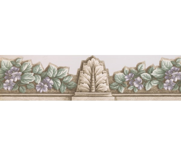 Floral Wallpaper Borders: Floral Wallpaper Border 75358 AR DC