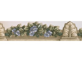 6 in x 15 ft Prepasted Wallpaper Borders - Floral Wall Paper Border 75360 AR