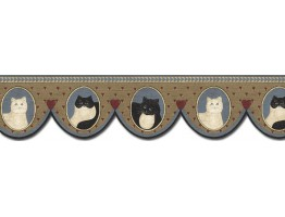 Prepasted Wallpaper Borders - Cats Wall Paper Border AP75688DC
