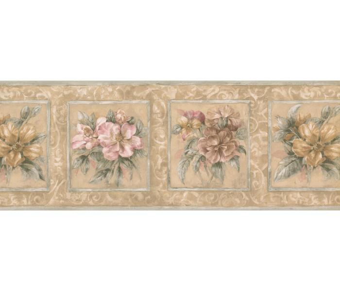 Garden Wallpaper Borders: Floral Wallpaper Border 75708 HB
