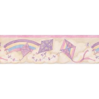 7.25 in x 15 ft Prepasted Wallpaper Borders - Kids Wall Paper Border 75901 SU