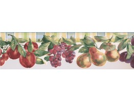 Prepasted Wallpaper Borders - Fruits Wall Paper Border 75974 BB