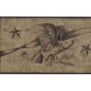 6 3/4 in x 15 ft Prepasted Wallpaper Borders - Bird Wall Paper Border 75B56812