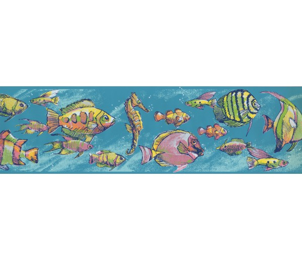 Clearance Aquarium Wallpaper Border 7601 CK York Wallcoverings