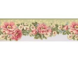 Floral Wallpaper Border 7614 JT