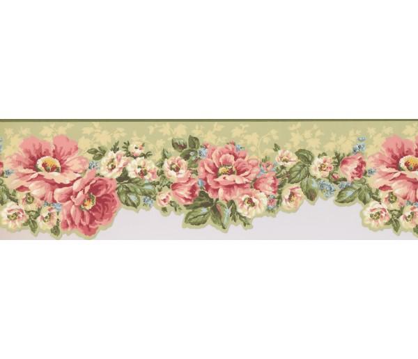 Garden Borders Floral Wallpaper Border 7614 JT York Wallcoverings