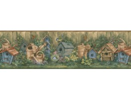 7 in x 15 ft Garden Wallpapaper Border 76310 BG