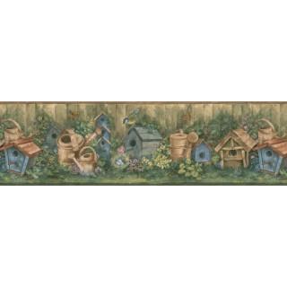 7 in x 15 ft Garden Wallpapaper Border 76310 BG