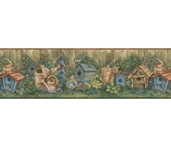 Garden Wallpaper Borders: Garden Wallpapaper Border 76310 BG