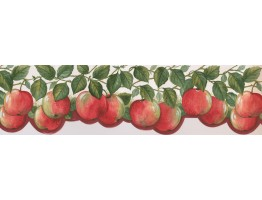 6 3/4 in x 15 ft Prepasted Wallpaper Borders - Fruits Wall Paper Border 76311 BG