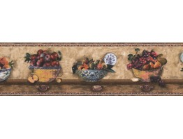 Prepasted Wallpaper Borders - Fruits Wall Paper Border 76481 SP