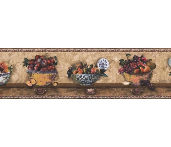 Garden Wallpaper Borders: Fruits Wallpaper Border 76481 SP