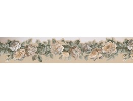 4.875 in x 15 ft Prepasted Wallpaper Borders - Floral Wall Paper Border 76577 PP