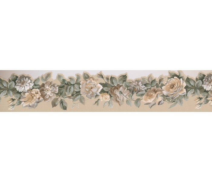 Garden Wallpaper Borders: Floral Wallpaper Border 76577 PP